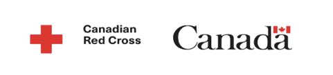 Canadian Red cross and government logo